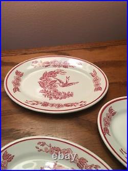 Jackson China Cooks Hotel Restaurant Supply NY Red Hummingbird Mini Oval Plates