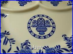 Jackson China restaurant weight Blue & White Grill Plate for Cooks's Supply Co