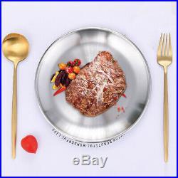 Kitchen Round Plate Tableware Restaurant Supplies Stainless Steel Tray