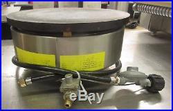 Krampouz LP Gas Crepe Machine with Cast Iron Plate 15 3/4 Diameter