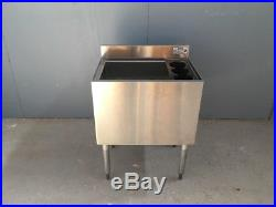 Krowne Metal 18-24-7 24W Insulated Ice Bin 12 Depth with Cold Plate 18.5 Deep