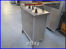 MEPD2H1018 Atlas Metal Heated Plate Dispenser Mobile 10 1/8 Plates