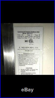 Nelson BDC-8 S Commercial Rolling Ice Cream Freezer Novelty Cold Plate