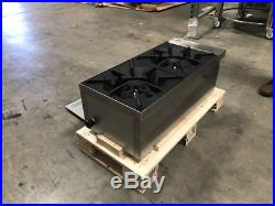 New 2 Burner Heavy Duty Commercial Countertop Gas Hot Plate Avail. In Nat / Lp