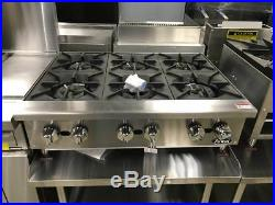 New 36 Hd 6 Burner Heavy Duty Commercial Countertop Gas Hot Plate Nat/lp Gas