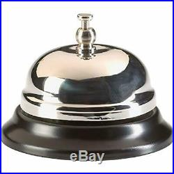 Nickel Plated Call Bell Restaurant Desk Hotel Lobby Office Supplies Serving New