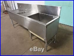 PERLICK COMMERCIAL H. D. BAR STATION withCOLD PLATE ICE BIN, WASH SINK, DRAIN BOARD