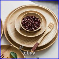 Plate Serving Breakfast Salad Display Restaurant Supply Round Suitable