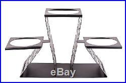PrestoWare PWT3-B, Multi-Level Buffet Riser for Three Plates, Black Powder Coate