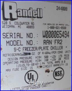 Randell RAN FRA-2 Freezer Ice-cream Plate Chiller Mug chille