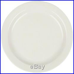 Restaurant Supplies 10 NARROW RIM WHITE CHINA PLATES 7 UNDECORATED Buffalo