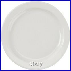 Restaurant Supplies 12 NEW NARROW RIM WHITE CHINA PLATES 5.5 UNDECORATED Buffalo