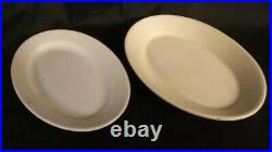 Restaurant Supplies 6 OVAL CHINA PLATES 7.5 and 8.25 long