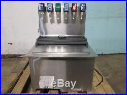 SERVEND COMMERCIAL DROP-IN INSERT 6 HEADS SODA DISPENSER withCOLD PLATE ICE BIN