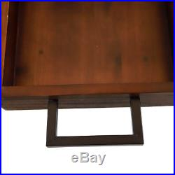 Serving Buffet Wheel Cart Wood Iron Removable Tray Wine Plate Rack Home Kitchen