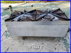 Superior 12 Counter Top 2 Burner Gas Commercial Hot Plate