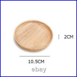 Supply Plate Wooden Round Food Restaurant Household Suitable Brand New