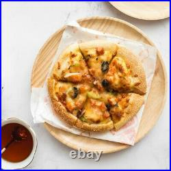 Supply Plate Wooden Round Tray Restaurant Household Snack Serving Suitable
