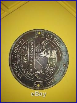 U. S. Slicing Machine Company Van Berkel's Original Metal Name Plate LaPorte, IN