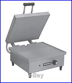 Uniworld Stainless Steel Commercial Large Sandwich Grill, 18x17 Grid Plate, 1