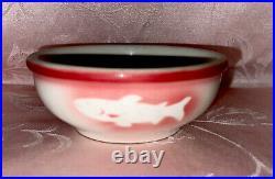 VTG Jackson China Restaurant Ware Airbrush Fish Kalberer Hotel Supply CO 5 Bowl