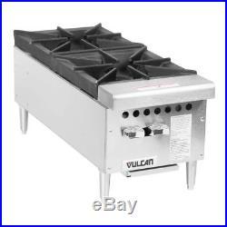 Vulcan VCRH12-1 Natural Gas 12 2 Burner Countertop Range / Hot Plate 50,000 B