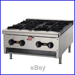 Wells HDHP-2430G-QS 24 Quickship Countertop Gas Hot Plate NAT