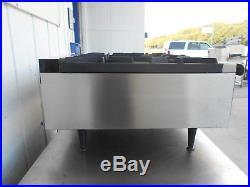 Wells HDHP-3630G Natural Gas Heavy Duty 36 6 Burner Countertop Hot Plate #2579