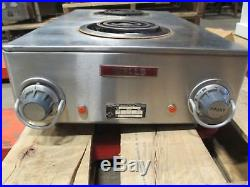 Wells H-115 Infinite Controls 2 Burner Electric Hot Plate Hotplate Commercial