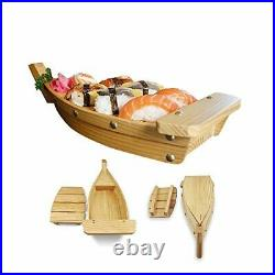 Wooden Sushi Boat Serving Tray Restaurant Hotel Supplies-Display Plates 16.5'